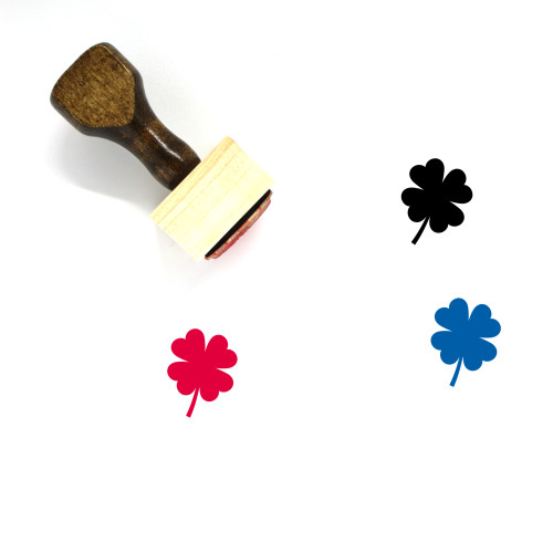 Clover Wooden Rubber Stamp No. 112