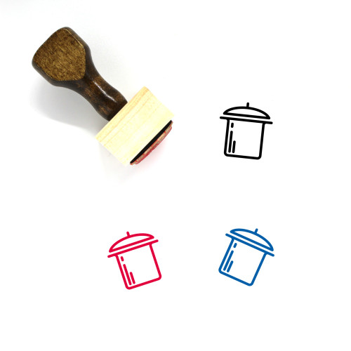 Pot Wooden Rubber Stamp No. 93