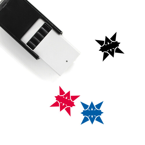 Star Badge Self-Inking Rubber Stamp No. 40