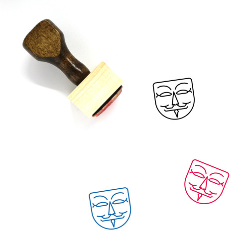 Guy Fawkes Wooden Rubber Stamp No. 12