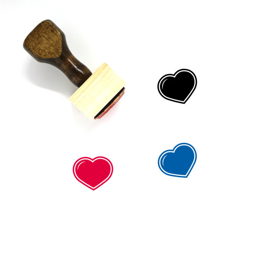 Heart Wooden Rubber Stamp No. 1517