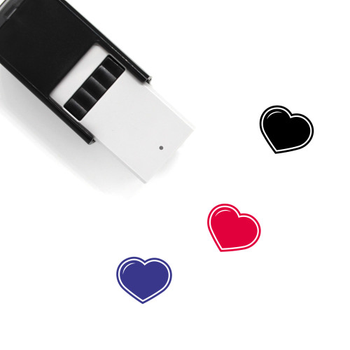 Heart Self-Inking Rubber Stamp No. 1517