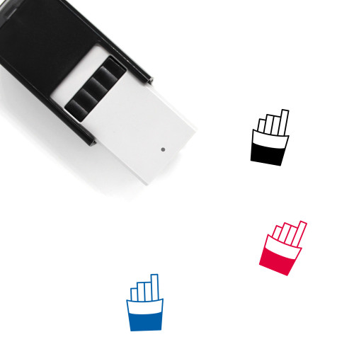 French Fries Self-Inking Rubber Stamp No. 67