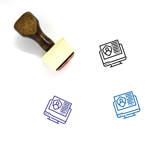 Customer Wooden Rubber Stamp No. 200
