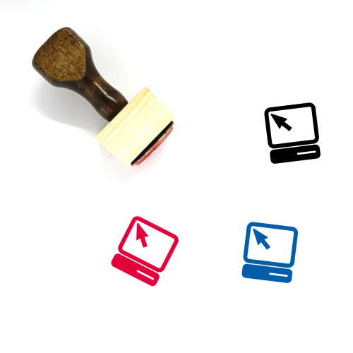 Computer Wooden Rubber Stamp No. 205