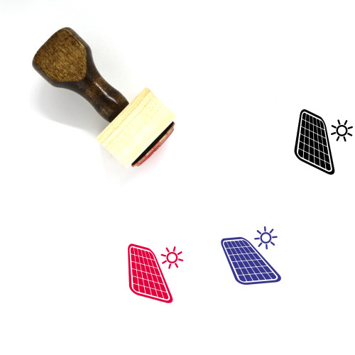Solar Panel Wooden Rubber Stamp No. 48