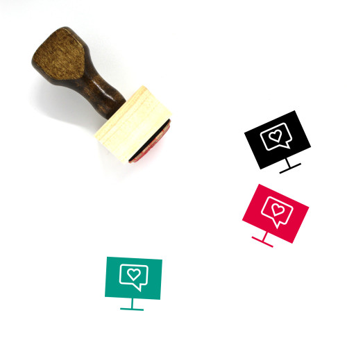Online Chat Wooden Rubber Stamp No. 45