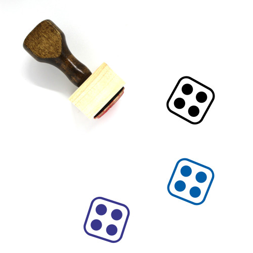 Dice Wooden Rubber Stamp No. 179