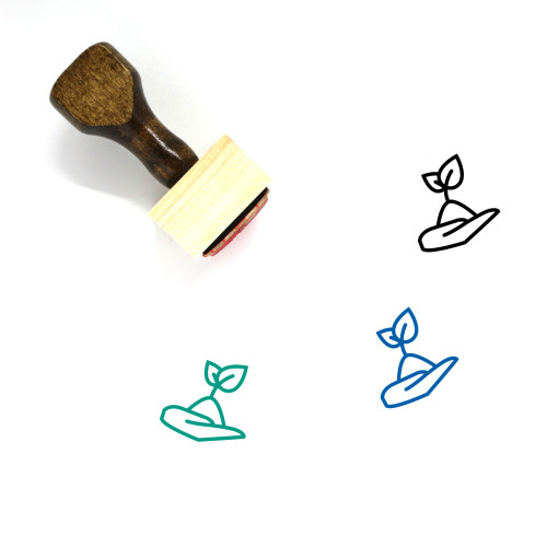 Sprout Wooden Rubber Stamp No. 16