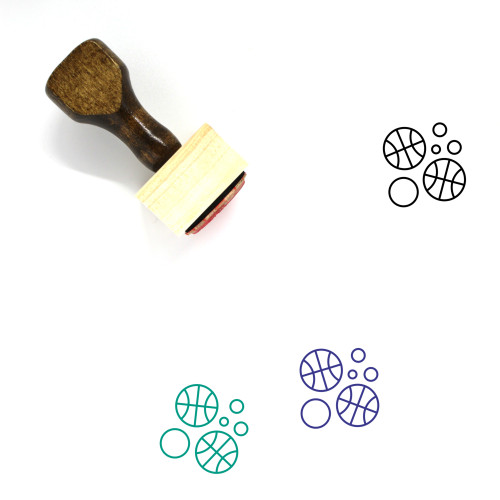 Sports Wooden Rubber Stamp No. 175