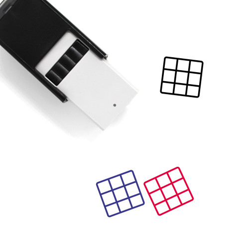 Grid Self-Inking Rubber Stamp No. 80