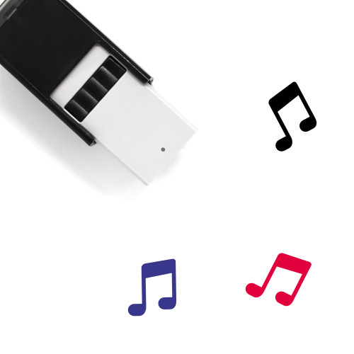 Music Notes Self-Inking Rubber Stamp No. 76
