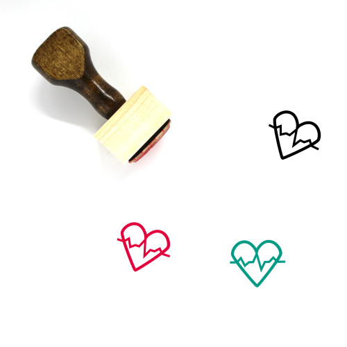 Heartbeat Wooden Rubber Stamp No. 75