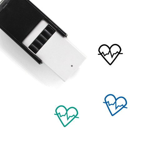 Heartbeat Self-Inking Rubber Stamp No. 75