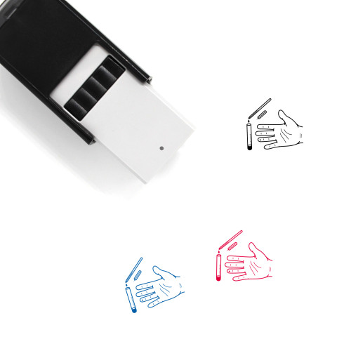 Blood Test Self-Inking Rubber Stamp No. 60