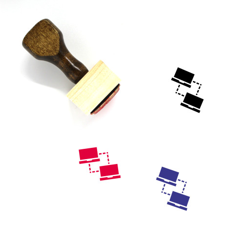Connectivity Wooden Rubber Stamp No. 34