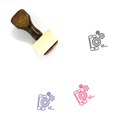 Mobile Settings Wooden Rubber Stamp No. 78