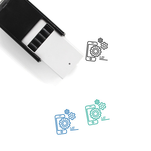 Mobile Settings Self-Inking Rubber Stamp No. 78