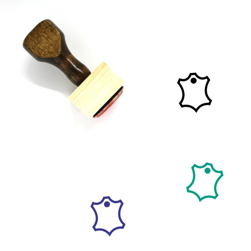 Material Wooden Rubber Stamp No. 7