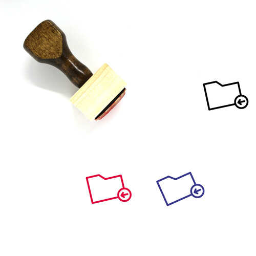 Previous Folder Wooden Rubber Stamp No. 3
