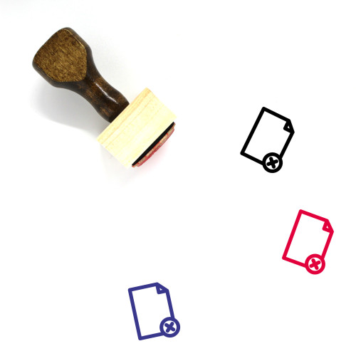 Remove File Document Wooden Rubber Stamp No. 1