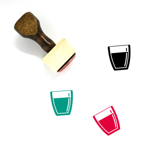 Drink Wooden Rubber Stamp No. 114