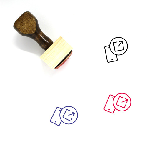 External Link Wooden Rubber Stamp No. 37