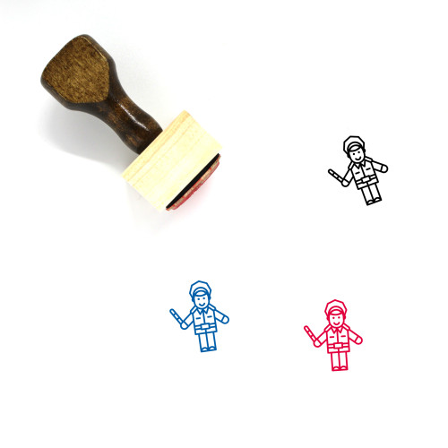 Police Wooden Rubber Stamp No. 193