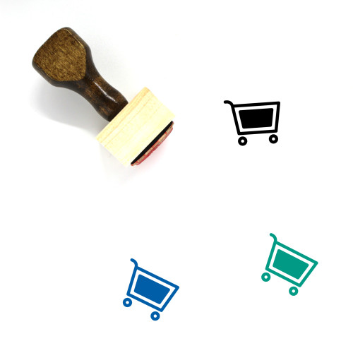 Shopping Cart Wooden Rubber Stamp No. 334