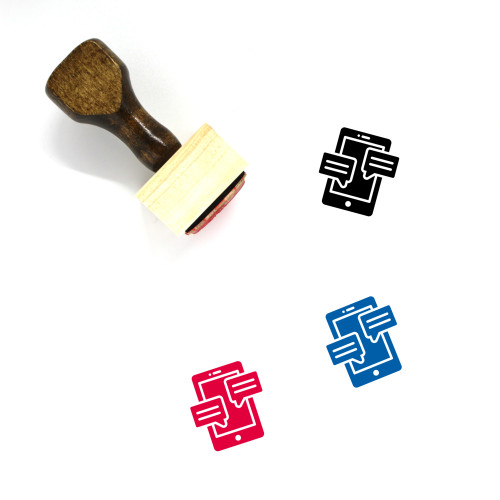 Text Messages Wooden Rubber Stamp No. 15