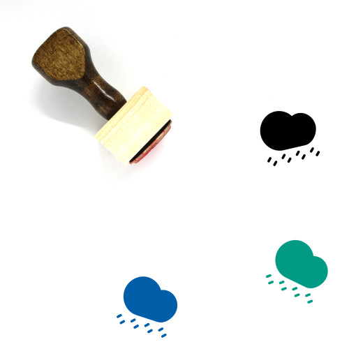 Rain Wooden Rubber Stamp No. 180