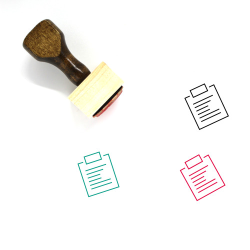 Report Wooden Rubber Stamp No. 202