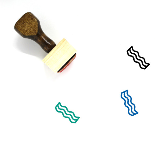 Bacon Wooden Rubber Stamp No. 18