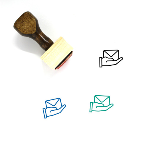Deliver Mail Wooden Rubber Stamp No. 1