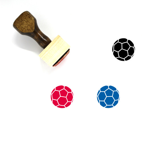 Soccer Ball Wooden Rubber Stamp No. 52