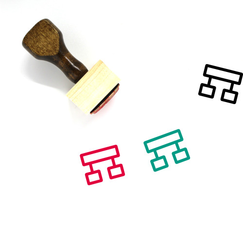 Hierarchy Wooden Rubber Stamp No. 91