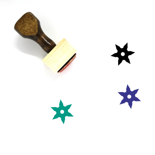 Shuriken Wooden Rubber Stamp No. 50