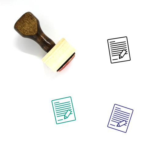Author Wooden Rubber Stamp No. 10