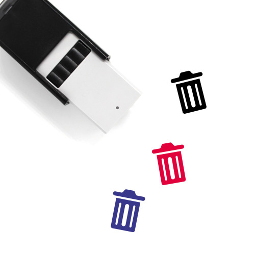 Trash Can Self-Inking Rubber Stamp No. 135