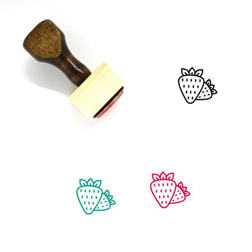 Strawberry Wooden Rubber Stamp No. 131