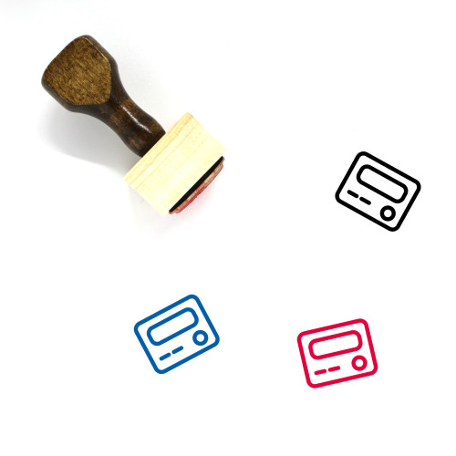 Pager Wooden Rubber Stamp No. 8