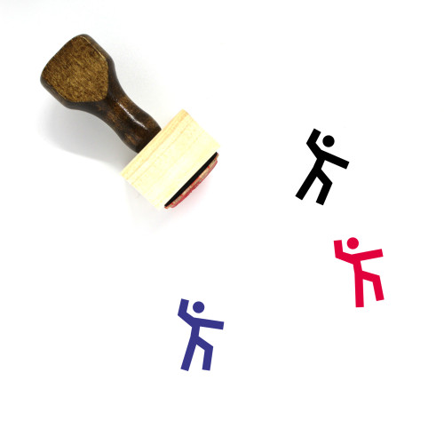 Fight Wooden Rubber Stamp No. 77