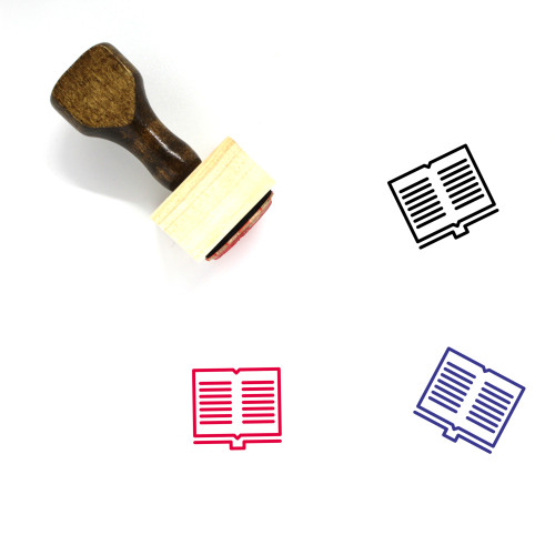 Book Wooden Rubber Stamp No. 732