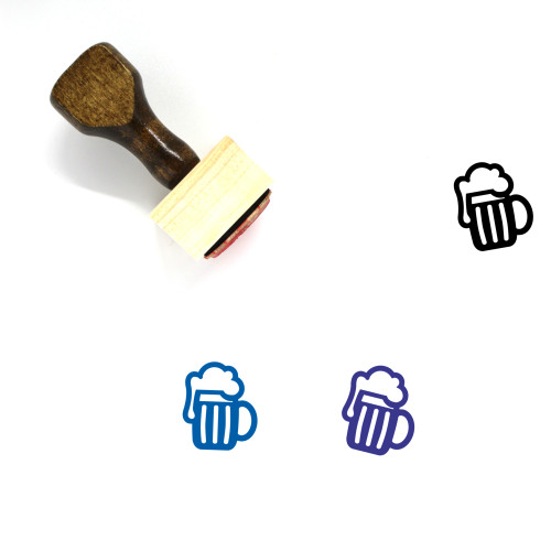 Beer Wooden Rubber Stamp No. 177