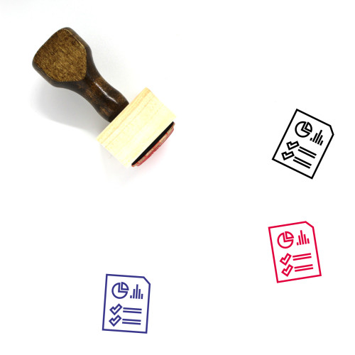 Report Document Wooden Rubber Stamp No. 44