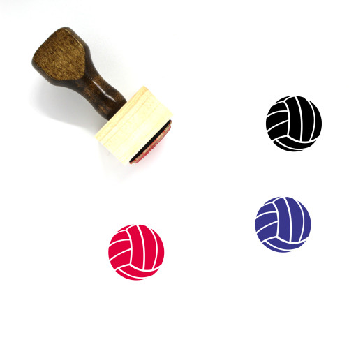 Volleyball Wooden Rubber Stamp No. 53