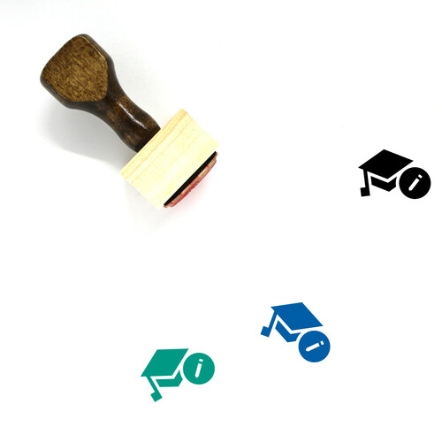 Education Wooden Rubber Stamp No. 179