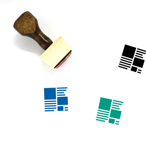 Page Design Wooden Rubber Stamp No. 4