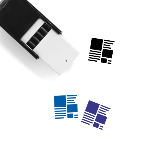 Page Design Self-Inking Rubber Stamp No. 4