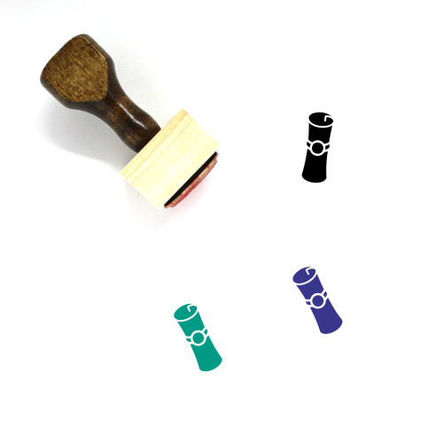 Diploma Wooden Rubber Stamp No. 43